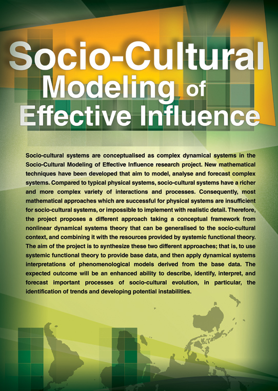 Socio-Cultural Modeling of Effective Influence